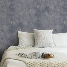 livingwalls vliestapete new walls tapete grace vintage uni optik blau grau metallic