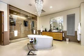 Chandelier Over Bathroom Sink by Bathrooms Contemporary Bathroom With Cool Modern Chandelier