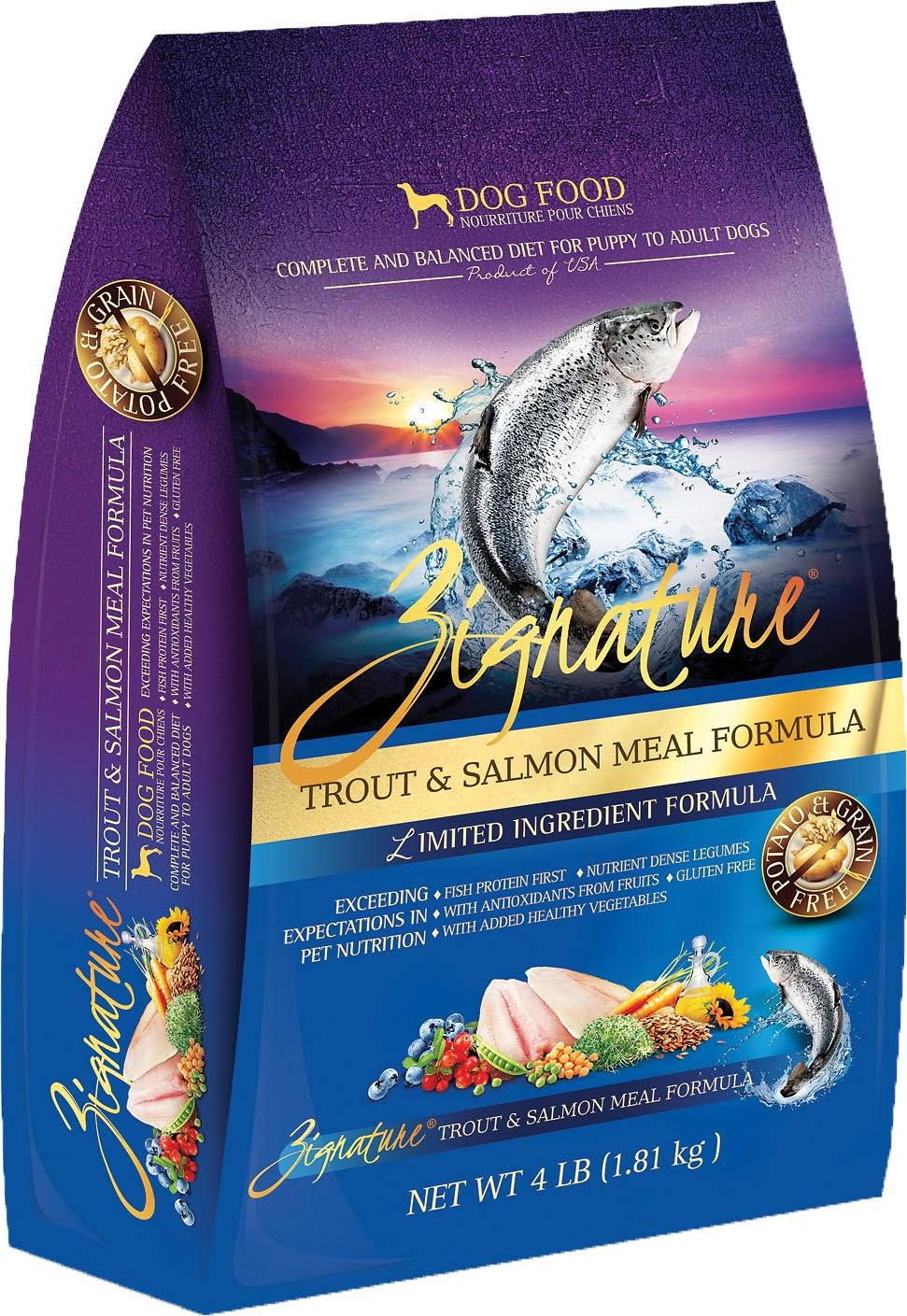 Zignature Grain Trout Dry Dog Food