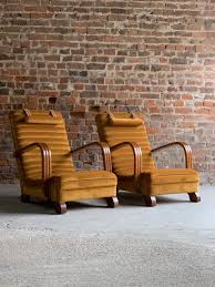 Art Deco Streamline Lounge Chairs By Heals Of London Circa ...