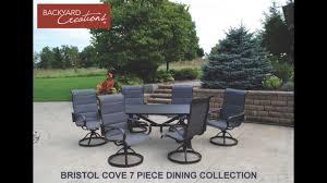 Menards Folding Chair Mat by Backyard Creations Bristol Cove 7 Piece Dining Patio Set At Menards