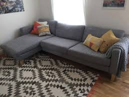 Karlstad Three Seat Sofa Bed Cover by Chaise Sofa Cover Bed Slipcover Karlstad Ikea Corner Add On