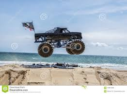 Monster Truck Jump Stock Photo. Image Of Monster, Beach - 108872082