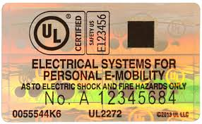 Underwriters Laboratories Portable Lamp Issue No by Certification For Next Generation Personal E Mobility Ul