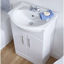 Ultra Blanco Vanity Unit With Basin And Optional Mirror Vanity