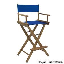 Aluminum Directors Chair Bar Height by American Trails Extra Wide 30 Inch Premium American Oak Bar Height