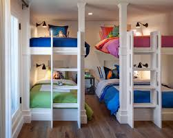neutral kids u0027 room with multiple bunk beds hgtv my dream house