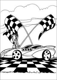 Formula One Racing Car Was Drove Coloring Page