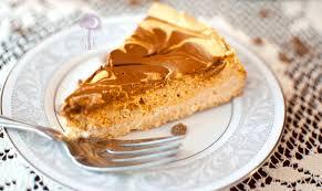 Skinnytaste Pumpkin Pie Cheesecake by Greek Yogurt Pumpkin Spice Cheesecake W A Chocolate Cinnamon Swirl