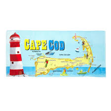 Christmas Tree Shop Sagamore by Cape Cod Map Beach Towel Christmas Tree Shops Andthat