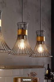 stylische leuchtenserie in schwarz und goldfarben len