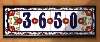ceramic house number tiles home tiles