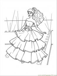 Dress Coloring Pages Free Dresses