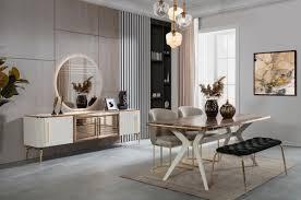 casa padrino luxus deco esszimmer set 1 esszimmertisch 4 esszimmerstühle 1 sitzbank deco esszimmer möbel