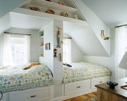 Creative Twins Bedroom In The Attic