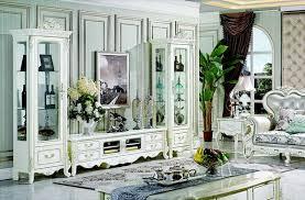 klassische wohn wand wohnzimmer vitrine sideboard rtv regal wände schrank 3tlg