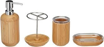 basics bambus badezimmer set rund 4 teilig