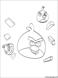 Angry Birds Coloring Page For All Game Lovers