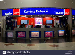 bureau de change office operated by travelex at gatwick airport