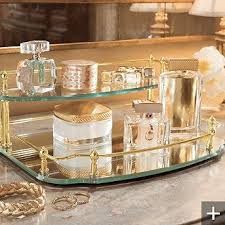 Mirror Vanity Trays Are Fun Room Brighteners Display Perfumes On Stacked For