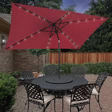 Walmart Patio Umbrella Red by Best Rectangular Patio Umbrella With Solar Lights Outsidemodern