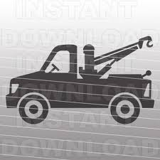 100 Tow Truck Vector SVG File SVG FileCutting Template Clip Etsy