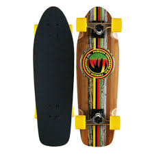 Paradise Barking Rasta Bamboo Cruiser W/ Destructo Trucks 8