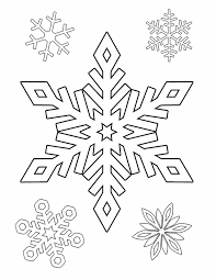 Snowflakes Free Printable Coloring Pages Christmas Images