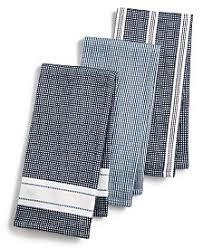 Martha Stewart Collection 3 Pc Waffle Weave Kitchen Towels Created For Macys