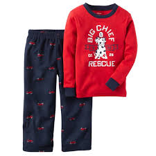 100 Fire Truck Pajamas 899 Carters Nwt 12M Baby Boy Cotton Fleece 2Pc Pj Pajama Set