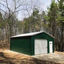 Metal Storage Shed Doors by 18x26x9 Garage A Frame Vertical Roof 10x8 Service Door