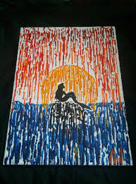Little Mermaid Melted Crayon Meltedheartcrayoncreationweebly