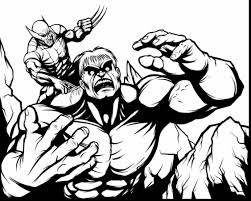 Wonderful Hulk Vs Wolverine Coloring Pages With And Online Games