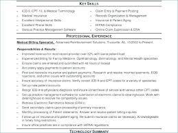 Sample Medical Biller Resume Coding Samples Download Billing
