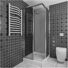 a h kunststoffplatte als duschrückwand duschverkleidung wandverkleidung fliesenersatz fugenlos und blickdicht 2x1m oder 2 5x1m grau weiß schwarz