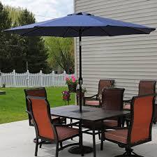 9 Ft Patio Umbrella With Crank by Sunnydaze Aluminum Patio Umbrella U2013 Tilt U0026 Crank U2013 9 U0027