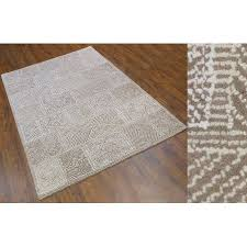 Wool Area Rug 7x9 Ft Hand Tufted Beige Ivory White By MystiqueDecors Family Media Dining
