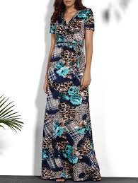dresses 3xl v neck printed maxi tropical dress gamiss