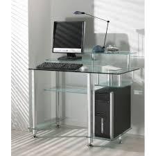 bureau ordinateur en verre meuble bureau topiwall bureau informatique en verre qilaad com