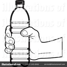 Royalty Free RF Water Bottle Clipart Illustration by Lal Perera Stock Sample