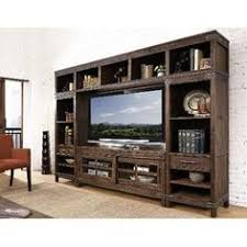 4PC CNSL LRPIER LGH 4 Piece Rustic Walnut Entertainment Center