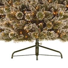 Pre Lit Pencil Slim Christmas Trees by 7 U0027 Hampton Glitter And Bristle Pencil Slim Pre Lit Pine Christmas Tree