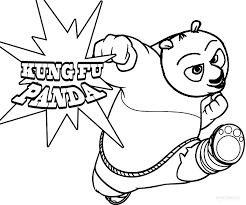 Awesome Kung Fu Panda Coloring Pages 24 On Free Kids With