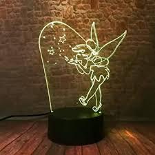 3d le nachttischle tinkerbell prinzessin nachtlicht