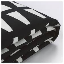 lycksele chair bed cover ebbarp black white ikea