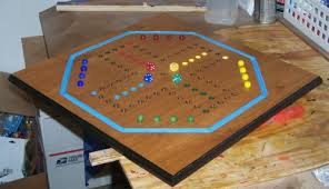 Classic Wood Aggravation Board Game W Marbles