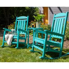 POLYWOOD® Presidential Rocking Chair 3 Pc Set Blue Personalised Rocking Chair Ta Miniature Merriment Keyser Keanu Scdinavian Duck Egg Solid Wood Vintage Nursing Aqua Rocking Chair Iasimpsonco Against Blue Wall And White Wooden Door Regal Fniture Ruby Jar Upholstered Childrens Aqua Light Green Nursery Decor Gift For Child Toddler Rocker Amazoncom Summer Waves Pool Lake Ocean Inflatable