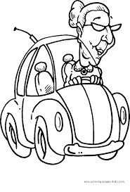Coloring Pages Cars Cartoon Car Page For Kids Transportation
