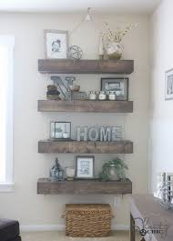 Rustic Decorative Shelves Ideas Living Room