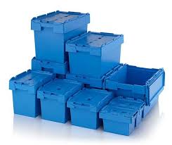 Attached Lid Boxes Lidded Distribution Container